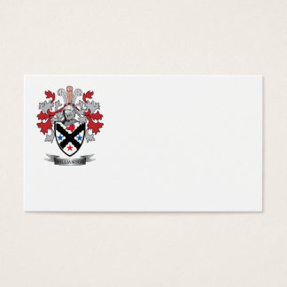 Williamson Family Crest Coat of Arms Business Card