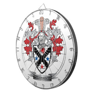 Williamson Family Crest Coat of Arms Dartboard