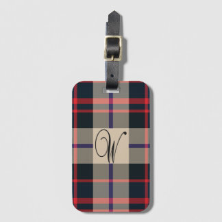 Williamson modern tartan luggage tag