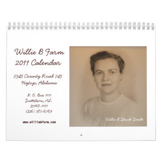 Willie B Farm 2011 Calendar