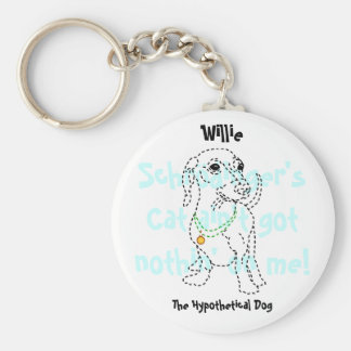 Willie the Hypothetical Dog Keychain