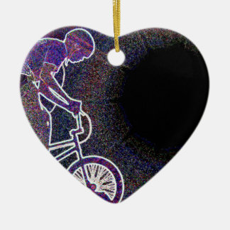 WillieBMX The Glowing Edge Heart Ornament