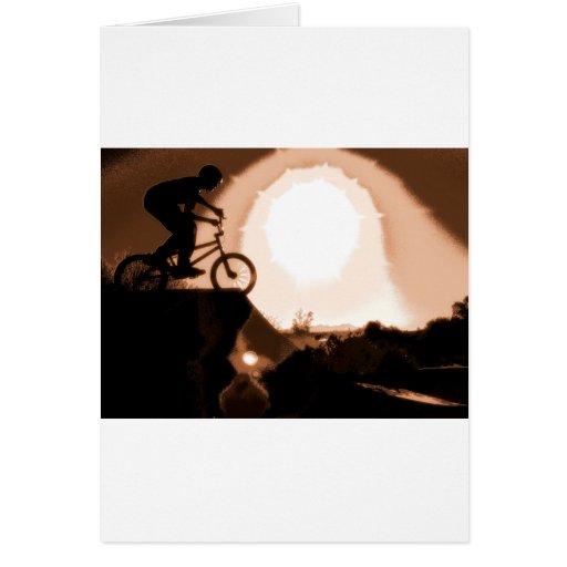 WillieBMX Warm Earth Tone Greeting Card