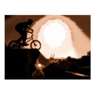 WillieBMX Warm Earth Tone Postcard