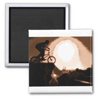 WillieBMX Warm Earth Tone Square Magnet
