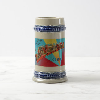 Willimantic Connecticut CT Vintage Travel Souvenir Beer Stein