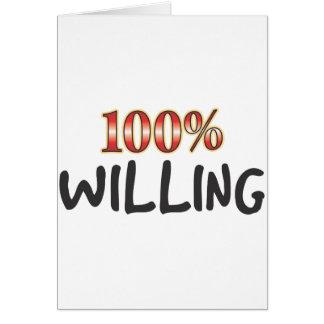 Willing 100 Percent Card