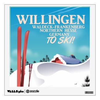 Willingen Ski travel poster. Wall Sticker