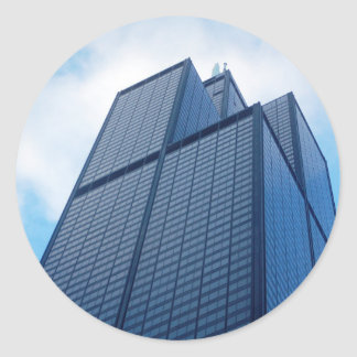 willis tower classic round sticker