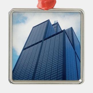 willis tower metal ornament