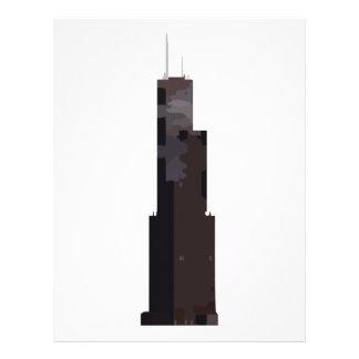 Willis Tower (Sears Tower) Letterhead Template