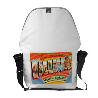 Williston North Dakota ND Vintage Travel Souvenir Commuter Bags