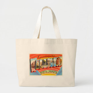 Williston North Dakota ND Vintage Travel Souvenir Large Tote Bag
