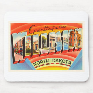 Williston North Dakota ND Vintage Travel Souvenir Mouse Pad