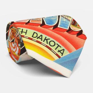 Williston North Dakota ND Vintage Travel Souvenir Tie