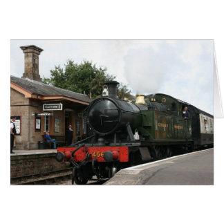 Williton station, West Somerset Railway, UK Greeting Card