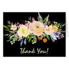 Willow and Floral Thank You Card