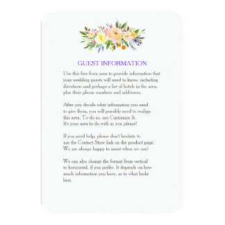 Willow and Floral Wedding Insert Card