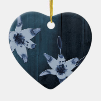 Willow Blue Flower Ceramic Ornament