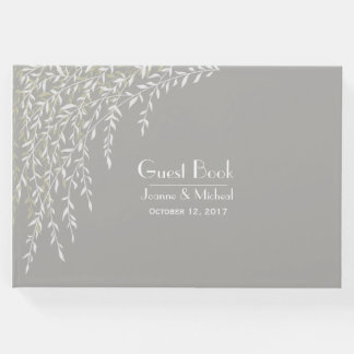 Willow Branches Taupe Wedding Guest Book