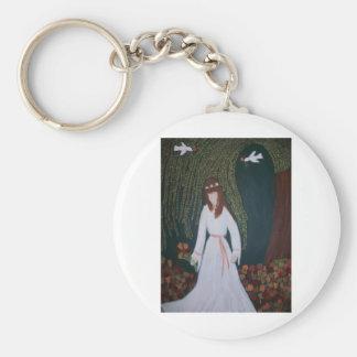 Willow Bride Basic Round Button Keychain