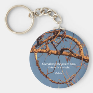 Willow circle keychain