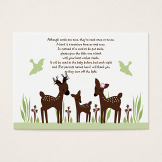 Willow Deer Family Favor Tag/Card Business Card