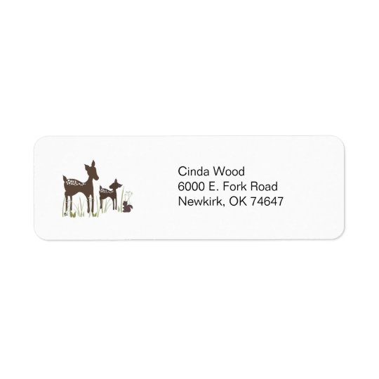 Willow Deer Forest Address Labels