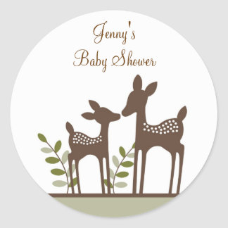 Willow Deer Forest Envelope Seals Stickers