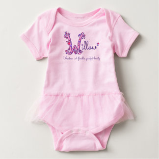 Willow girls name & meaning W monogram shirt