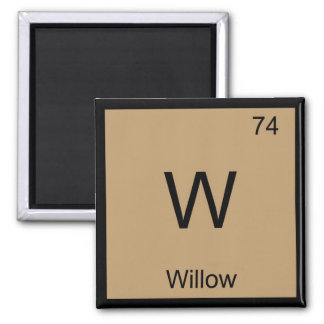 Willow Name Chemistry Element Periodic Table Square Magnet