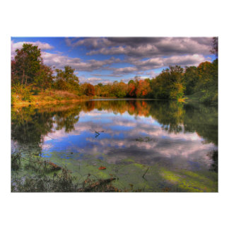 Willow Pond - Cherokee Park Poster
