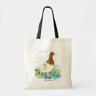 Willow Ptarmigan State Bird of Alaska Tote Bag