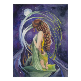 Willow, the Moon and Night Poster