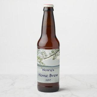 Willow Tree at Lake Beer Label