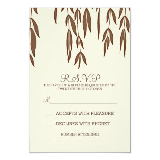 Willow tree branches elegant wedding RSVP card
