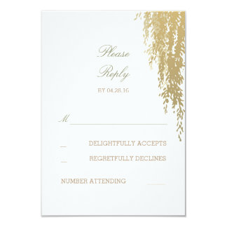 "Willow Tree Elegant Wedding Reply Cards 3.5"" X 5"" Invitation Card"