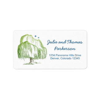 Willow Tree Wedding Address Labels