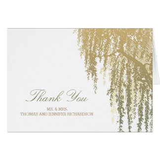 Willow Tree Wedding Thank You Card