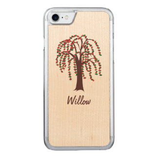 Willow Tree with Hearts - Carved iPhone 8/7 Case