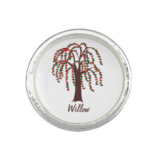 Willow Tree with Hearts - Customizable Ring