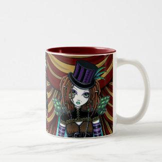 """Willow"" Victorian Steampunk Circus Faery Mug"