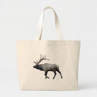 Willow Wapiti elk Large Tote Bag