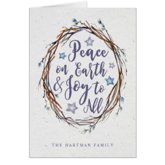 Willow Wreath Holiday Greeting Card