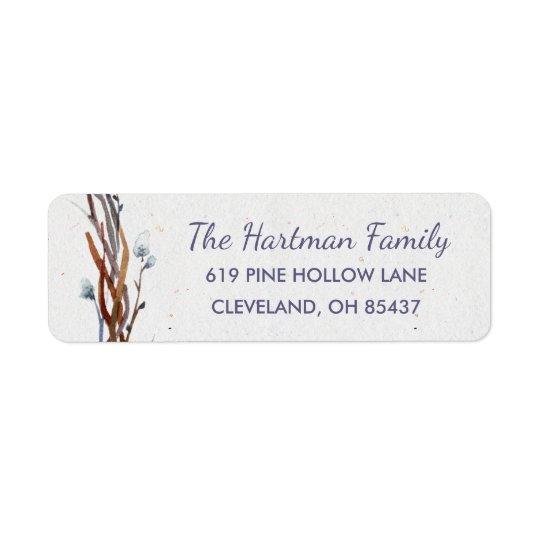 Willow Wreath Return Address Labels