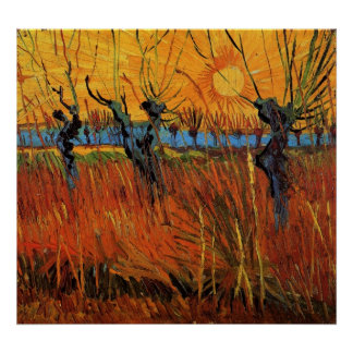 Willows at Sunset by Vincent van Gogh Poster