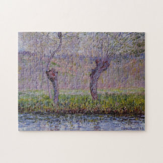 Willows in Springtime Monet Fine Art Jigsaw Puzzle