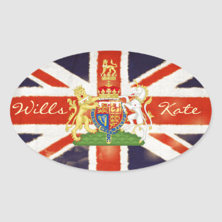 Wills and Kate Royal Wedding Oval Sticker
