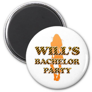 Will's Bachelor Party 2 Inch Round Magnet