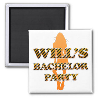 Will's Bachelor Party Square Magnet